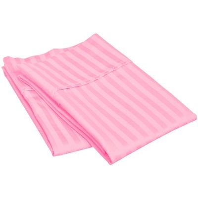 Lightweight Stripe Microfiber Wrinkle-Resistant King 2-Piece Pillowcase Set, Pink - Blue Nile Mills