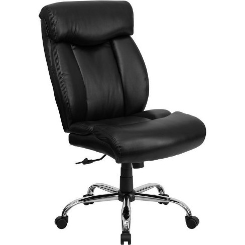 HERCULES Series 400 lb. Capacity Big & Tall Executive Swivel Office Chair Black Leather - Flash Furniture - image 1 of 6
