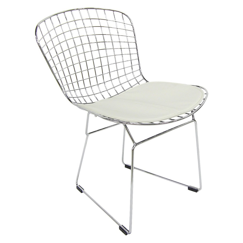 Aeon Wendy Chromed Steel Side Chair - White (Set of 2)