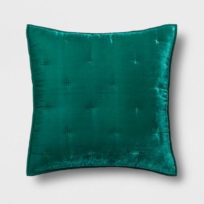 Green Velvet Tufted Stitch Sham (Euro)- Opalhouse™