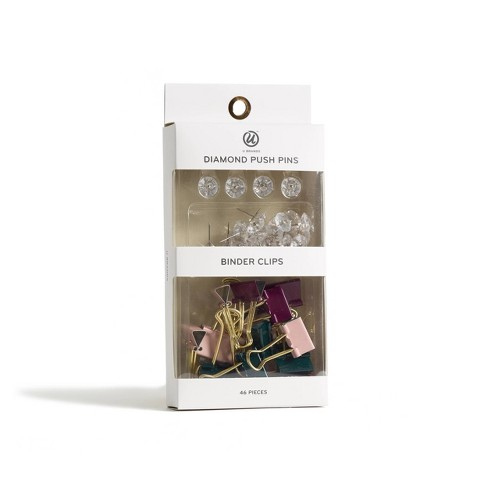 46ct Diamond Push Pins and Binder Clips - UBrands - image 1 of 4