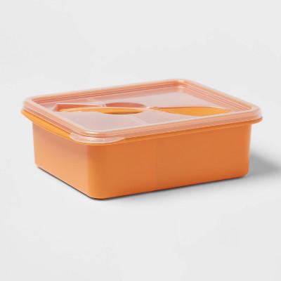 Plastic Bento Box with Utensil Sun Orange - Room Essentials™