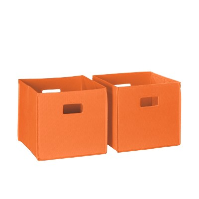 RiverRidge 2pc Folding Toy Storage Bin Set - Orange