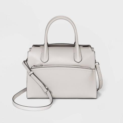 Magnetic Closure Satchel Handbag - A New Day™ - image 1 of 3