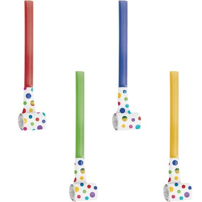 24ct Rainbow Foil Party Blowers