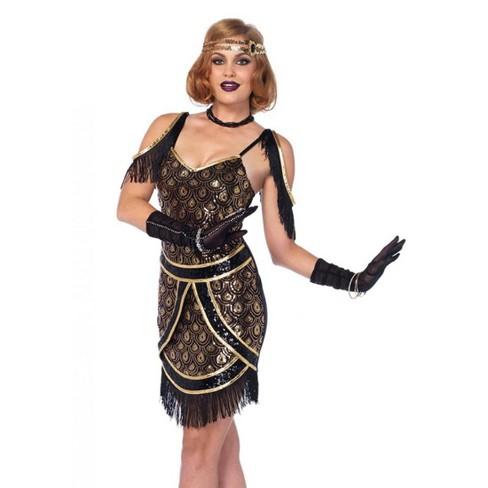 Leg Avenue Speakeasy Sweetie Peacock Sequin Art Deco Costume Dress - image 1 of 2