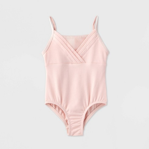 Toddler Girls' Pleated Cami Dance Leotard - More Than Magic™ Pink - image 1 of 2