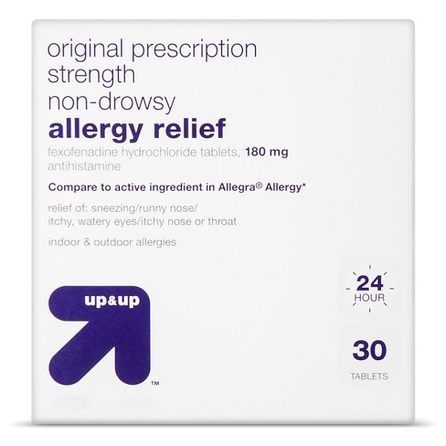 Fexofenadine Hydrochloride Allergy Relief Tablets - Up&Up™ (Compare to active ingredient in Allegra Allergy) - image 1 of 1