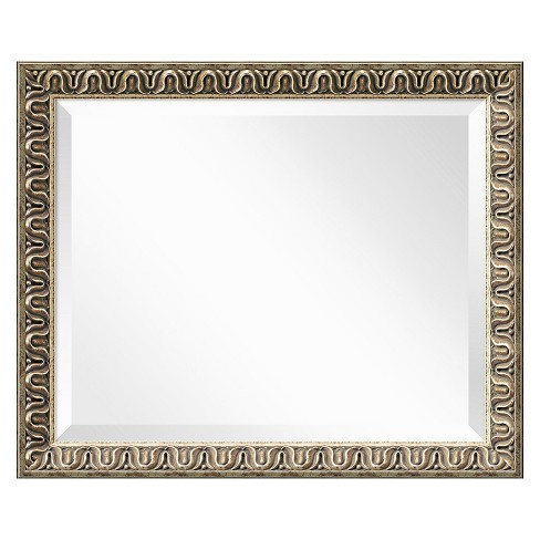 Rectangle Argento Decorative Wall Mirror Gold - Amanti Art - image 1 of 9