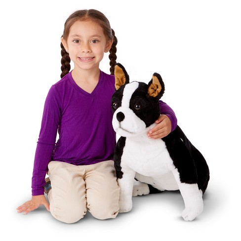 Melissa Doug Giant Boston Terrier Lifelike Stuffed Animal Dog