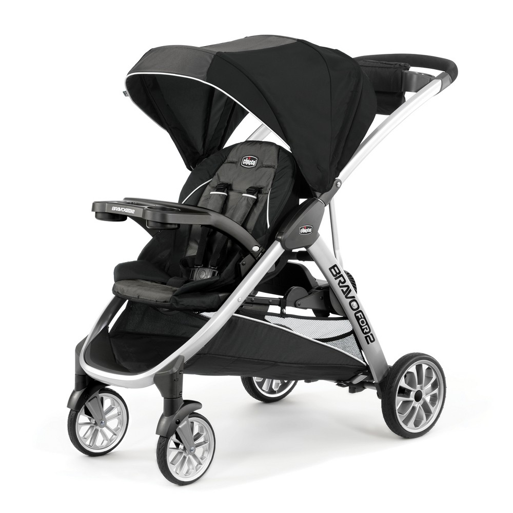 Image of Chicco Bravo for 2 Double Stroller - Iron, Black