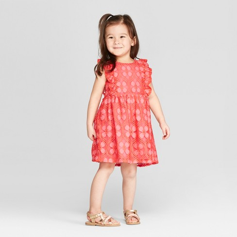 13a19f0975d4a2 Genuine Kids® From OshKosh Toddler Girls' Tile Lace Dress - Neon Pink :  Target