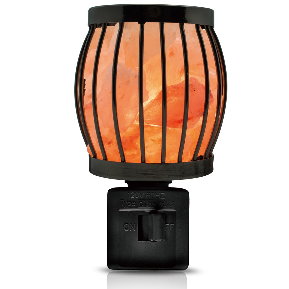 Image of Himalayan Glow Natural Salt Night Light Lantern, Black