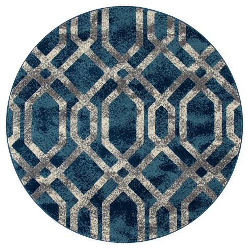 Fretwork Border Woven Area Rug - Art Carpet - image 1 of 1