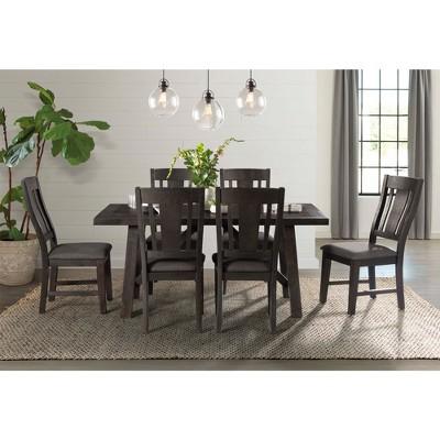 Cash 7pc Dining Set Dark Gray - Picket House Furnishings
