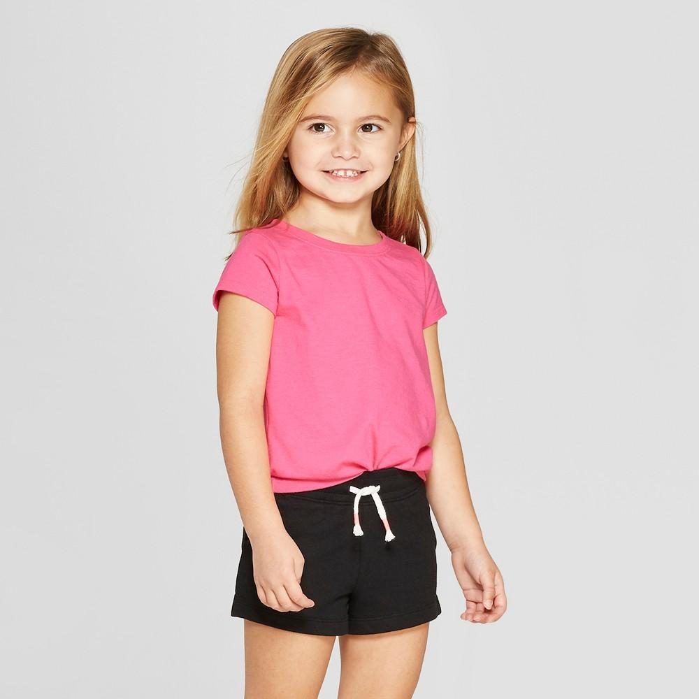 Toddler Girls' Short Sleeve T-Shirt - Cat & Jack Pink 3T
