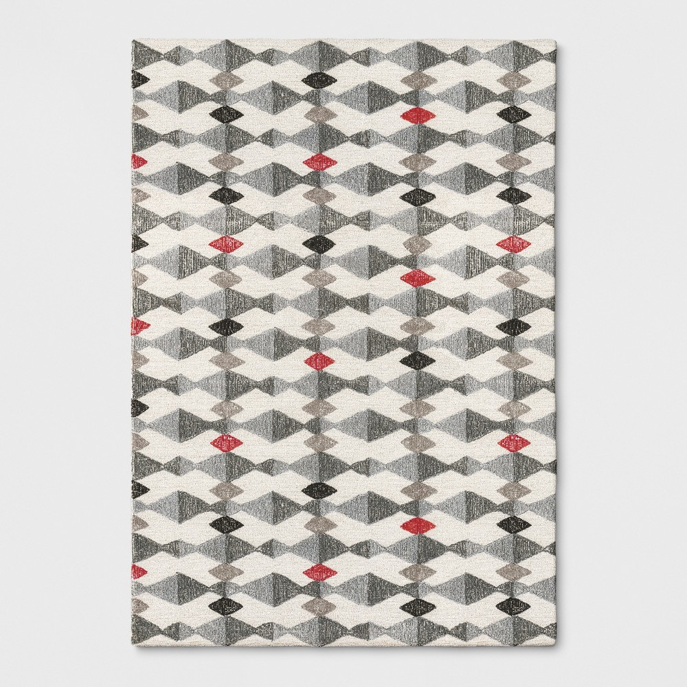 7'X10' Triangles Tufted Area Rug Gray - Project 62 was $359.99 now $179.99 (50.0% off)