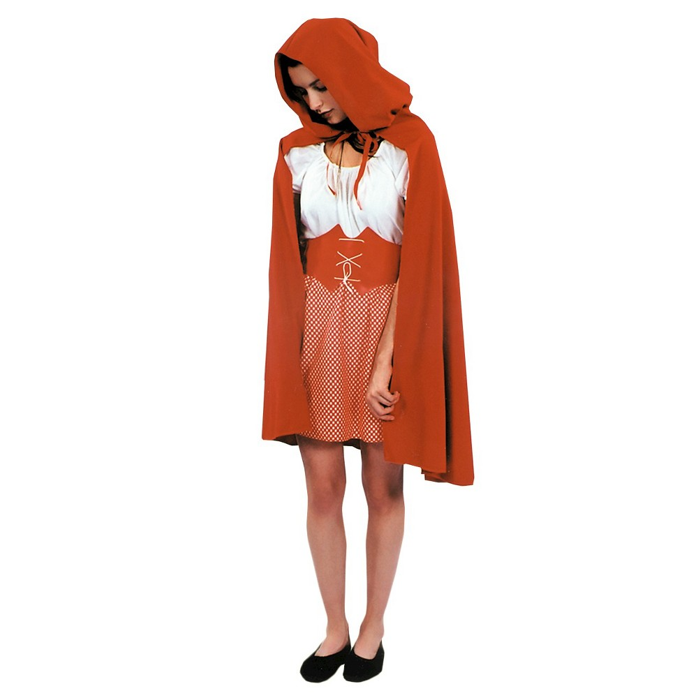 Image of Red Riding Hood Cape Red - One Size