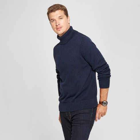 Mens Long Sleeve Turtleneck Pullover Sweater Goodfellow Co