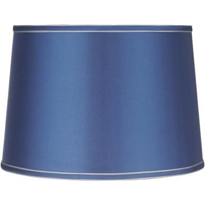 Brentwood Sydnee Satin Medium Blue Drum Lamp Shade 14x16x11 (Spider)