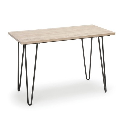 """44"""" Home Retro Writing Desk with Hairpin Legs Gray/Natural - OFM"""