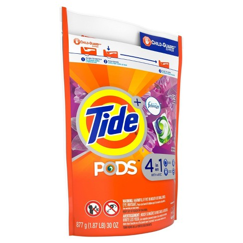 Tide PODS with Febreze Spring & Renewal Laundry Detergent Pacs - 32ct - image 1 of 3