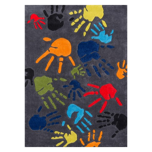Lil Mo Whimsy Finger Paint Hand Tufted Rug - Momeni - image 1 of 4