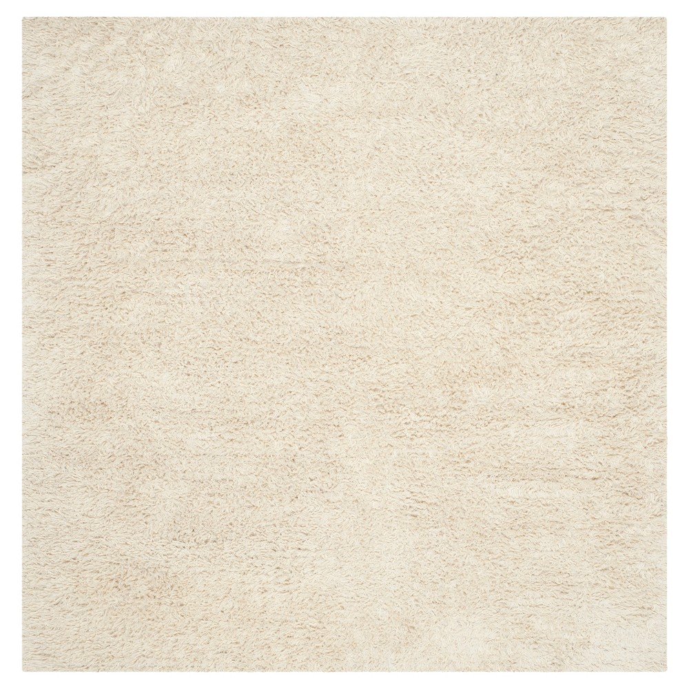 Ivory Solid Tufted Square Area Rug - (8'X8') - Safavieh, White