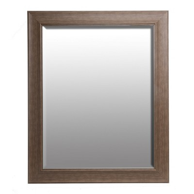 22 x28  Traditional Taupe Beveled Wall Mirror Taupe - Patton Wall Decor