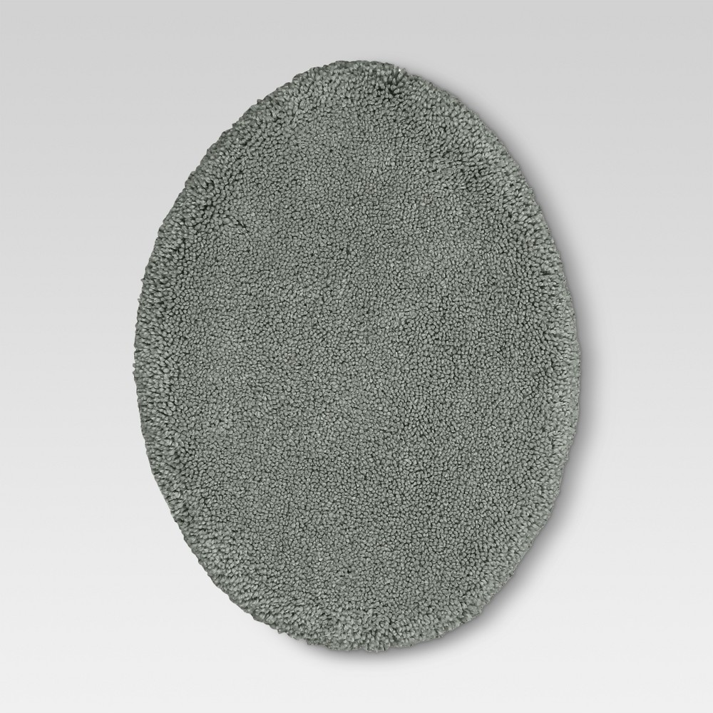 Performance Solid Toilet Lid Cover Radiant Gray - Threshold