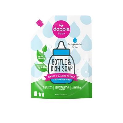 Dapple Bottle And Dish Liquid Soap Refill - Fragrance Free - 34 fl oz