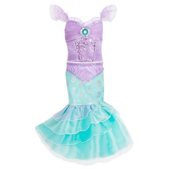 Girl's Little Mermaid Ariel Costume - 7/8 - Disney store, Women's, Blue image number null