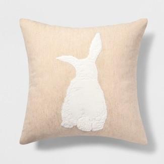 Bunny Square Throw Pillow - Threshold™