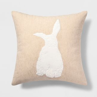 Bunny Square Throw Pillow - Threshold™