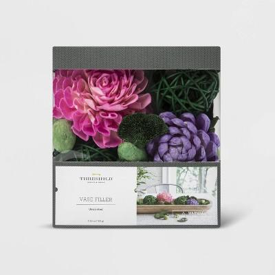 8.6oz Unscented Sola Wood Flower, Wicker Ball & Seeds Vase Filler - Threshold™