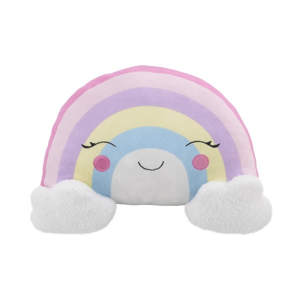 Image of NoJo Little Love Rainbow Throw Pillow