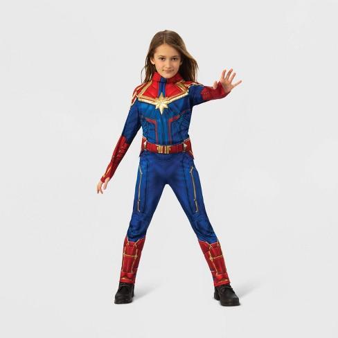 Girls' Marvel Captain Marvel Deluxe Halloween Costume - image 1 of 2