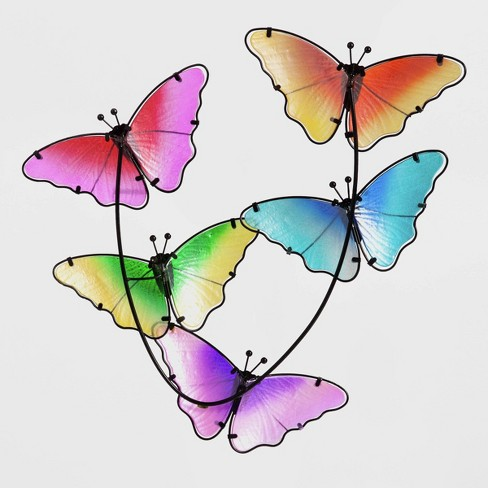 """21"""" Metal Butterfly Wall Art - Evergreen - image 1 of 4"""