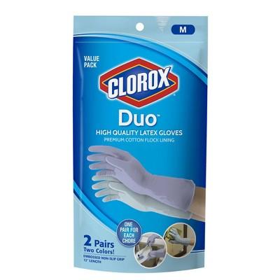 Clorox Duo Latex Gloves - Medium