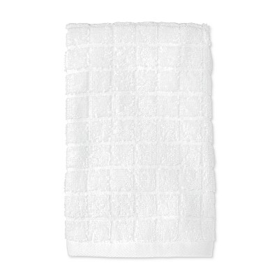 Hand Towel Grid Texture Bath Towels And Washcloths True White - Room Essentials™