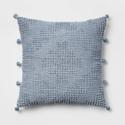 Oversize Chunky Textured Diamond Throw Pillow Blue - Opalhouse™