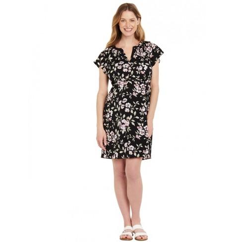 Motherhood Maternity | Flutter Sleeve Maternity Dress - image 1 of 4