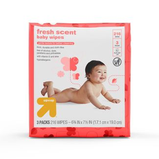 Baby Wipes Scented 216ct - Up&Up™