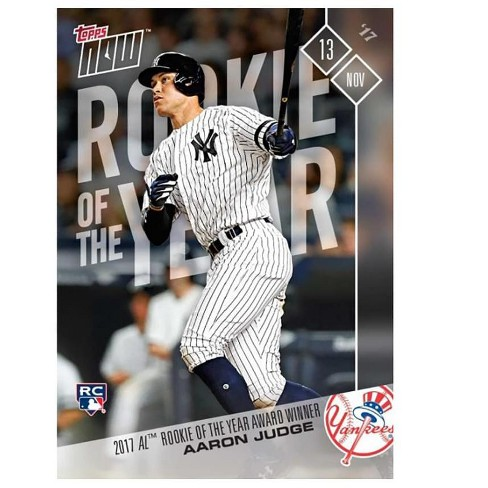Topps NY Yankees 2017 AL Rookie of the Year Aaron Judge (RC) MLB Topps NOW Card - image 1 of 2