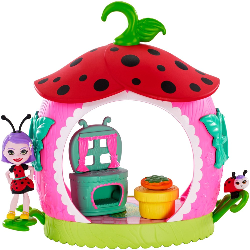 Enchantimals Teeny Kitchen Playset with Ladelia Ladybug Doll