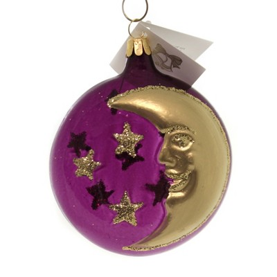 """Golden Bell Collection 4.0"""" Midnight & Crescent Moon Ornament Halloween Christmas  -  Tree Ornaments"""