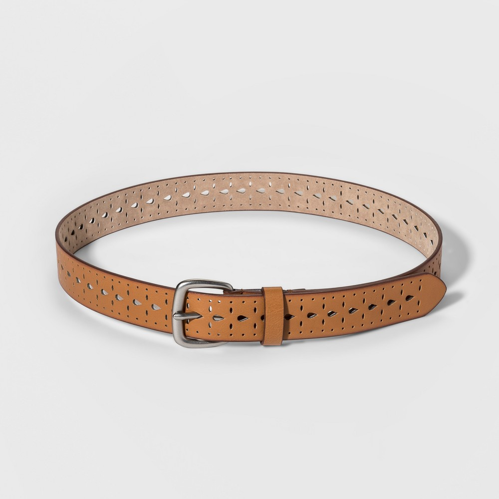 Women's Laser Cut Belt - Universal Thread Light Brown XL