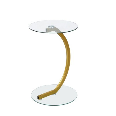 Ryker Pedestal Side Table Gold - Carolina Chair & Table