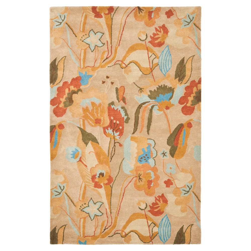 Floral Tufted Area Rug 7'6