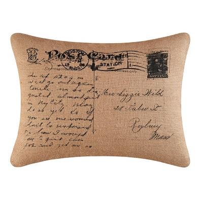 "C&F Home 18"" x 24"" Postcard Burlap Printed Pillow"